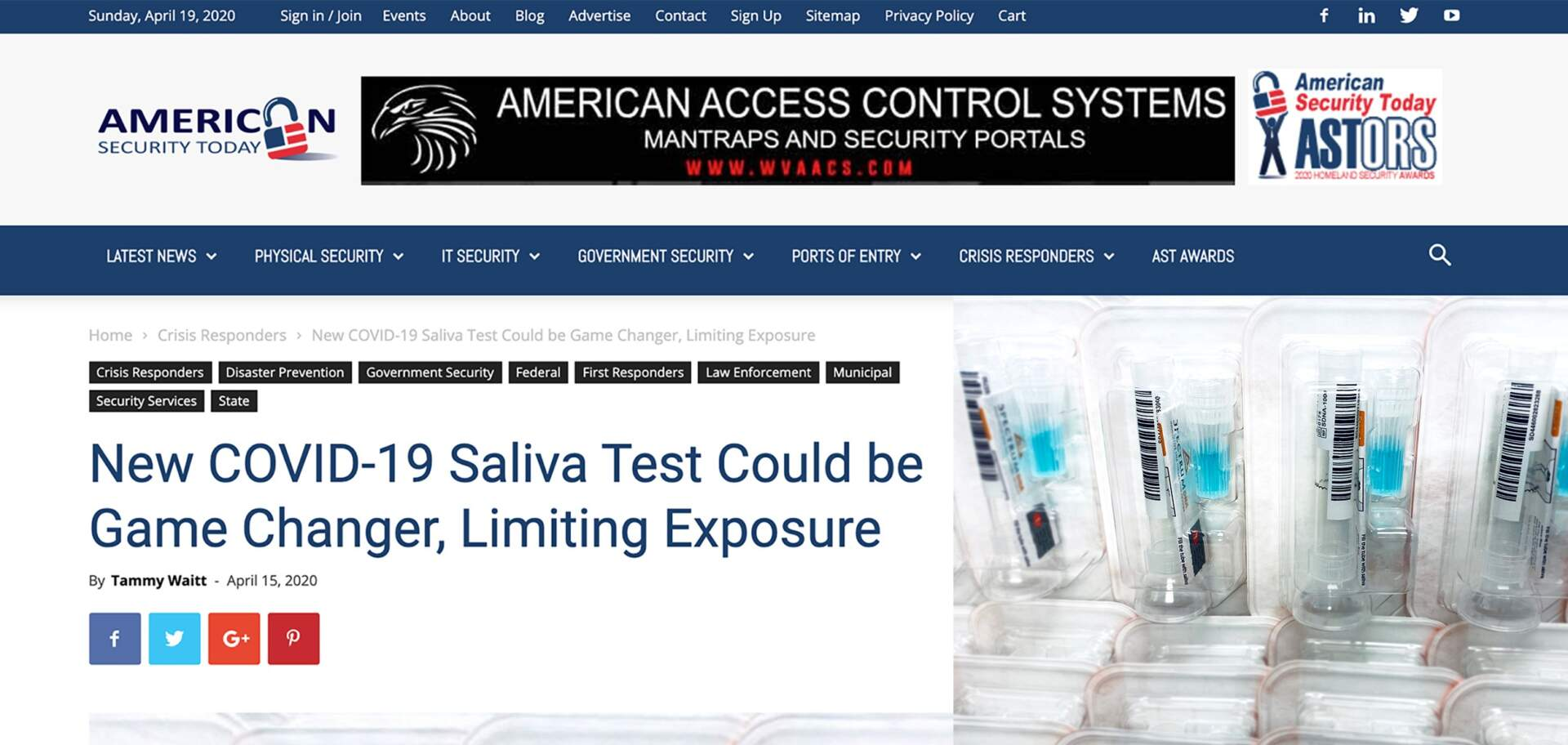 New COVID-19 Saliva Test Could be Game Changer, Limiting Exposure- American Security Today