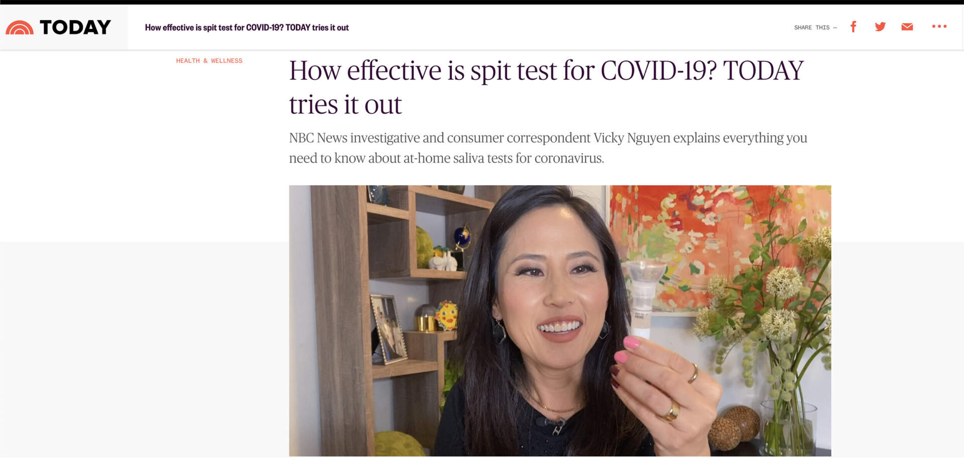 TODAY Show- How effective is spit test for COVID-19 TODAY tries it out